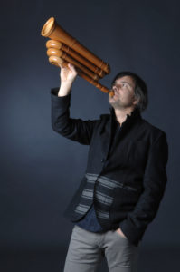 Pressefoto Balthasar Streiff mit Büchel