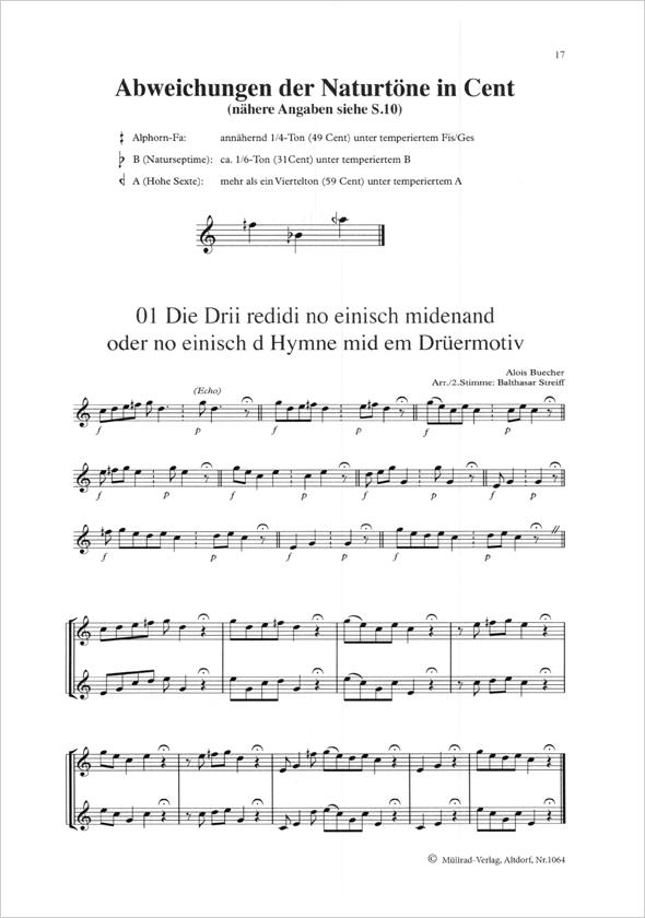 Alphorn Noten